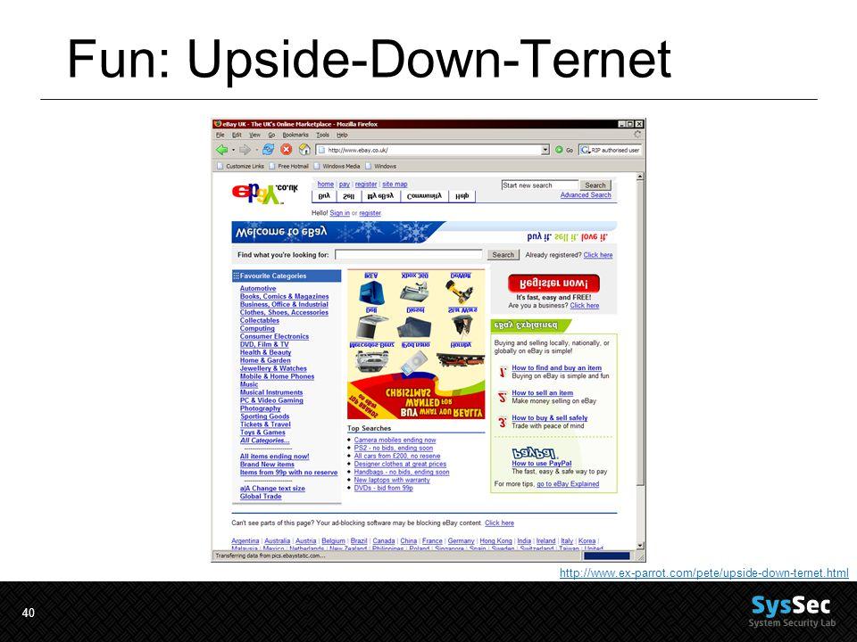 40 Fun: Upside-Down-Ternet http://www.ex-parrot.com/pete/upside-down-ternet.html