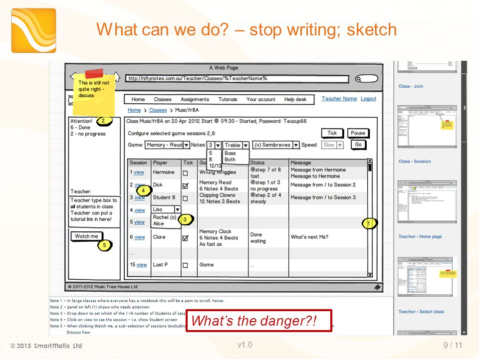v1.0 What can we do – stop writing; sketch © 2013 Smart m atix Ltd 9 / 11 What's the danger !