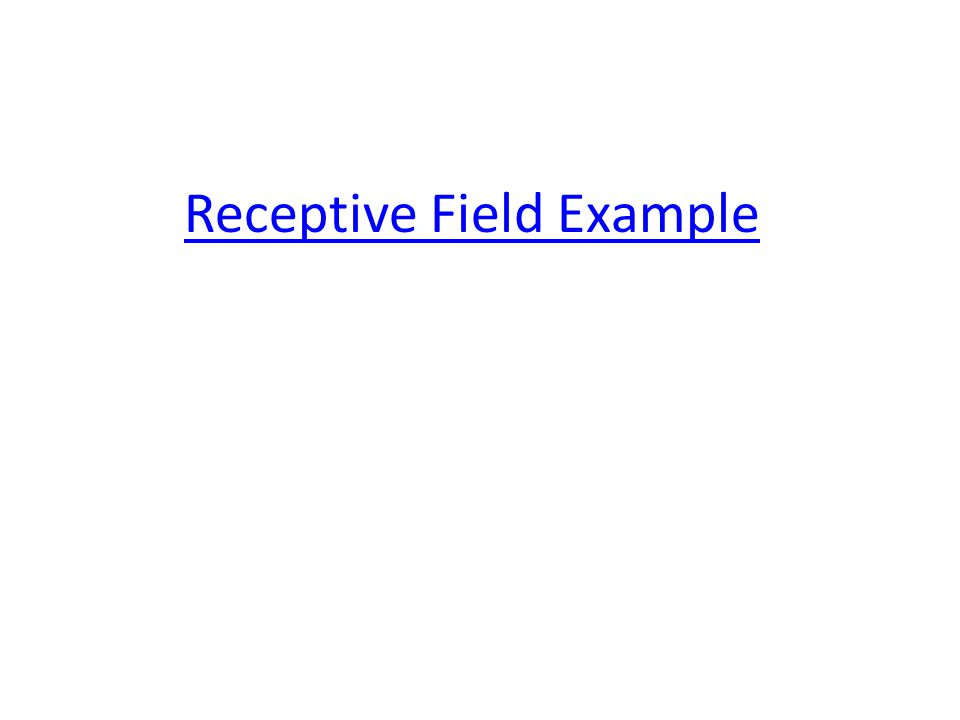 Receptive Field Example
