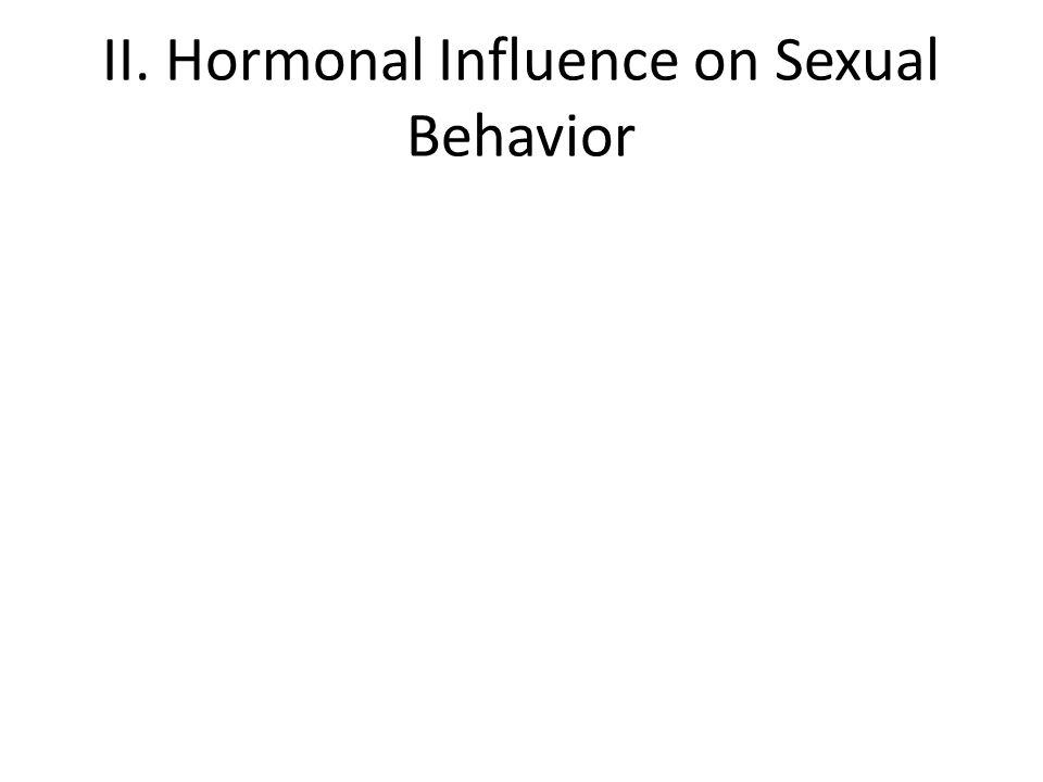 II. Hormonal Influence on Sexual Behavior