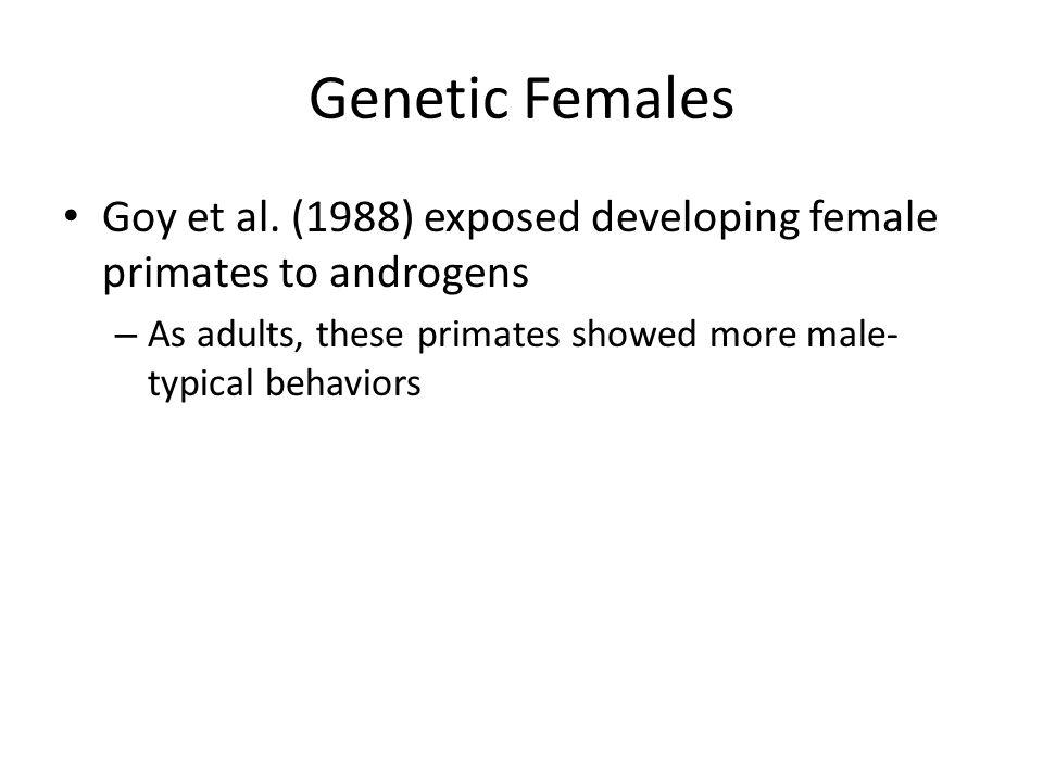 Genetic Females Goy et al.