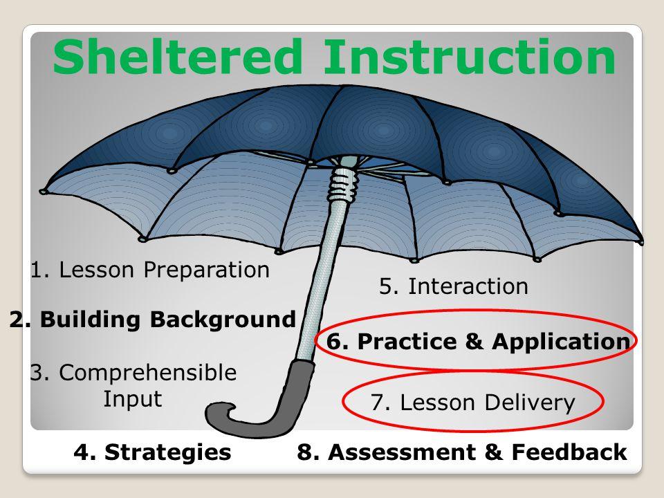1. Lesson Preparation 2. Building Background 3. Comprehensible Input 4.