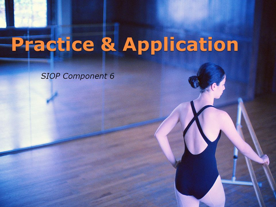 Practice & Application SIOP Component 6