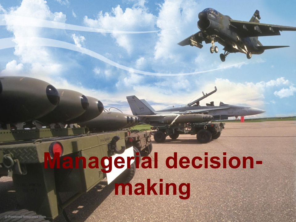 Distribution of decision-making: The number of criteria: –One-criteria decision making –Multicriteria decision making Methods of measurement criteria: –Nominal –Ordinal –Absolute Deterministic decision (decision-making under conditions of certainty)