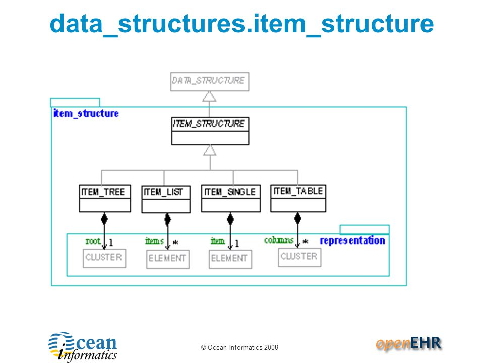 © Ocean Informatics 2008 data_structures.item_structure