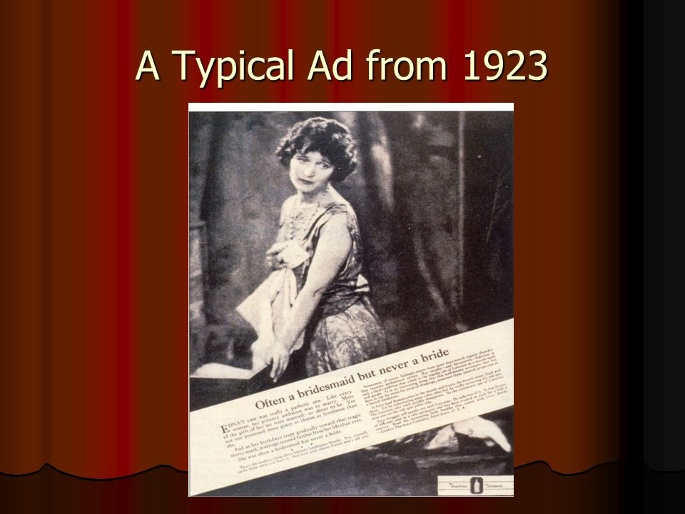 A Typical Ad from 1923