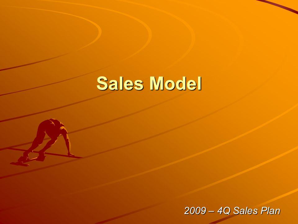 Sales Model 2009 – 4Q Sales Plan