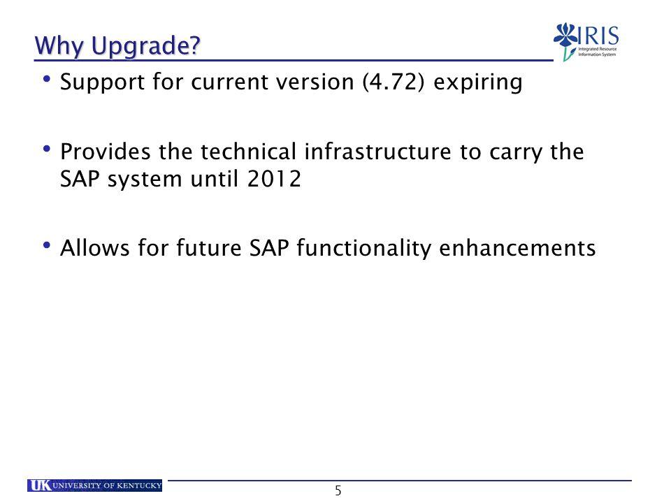 IRIS System Upgrade v16 Global Changes