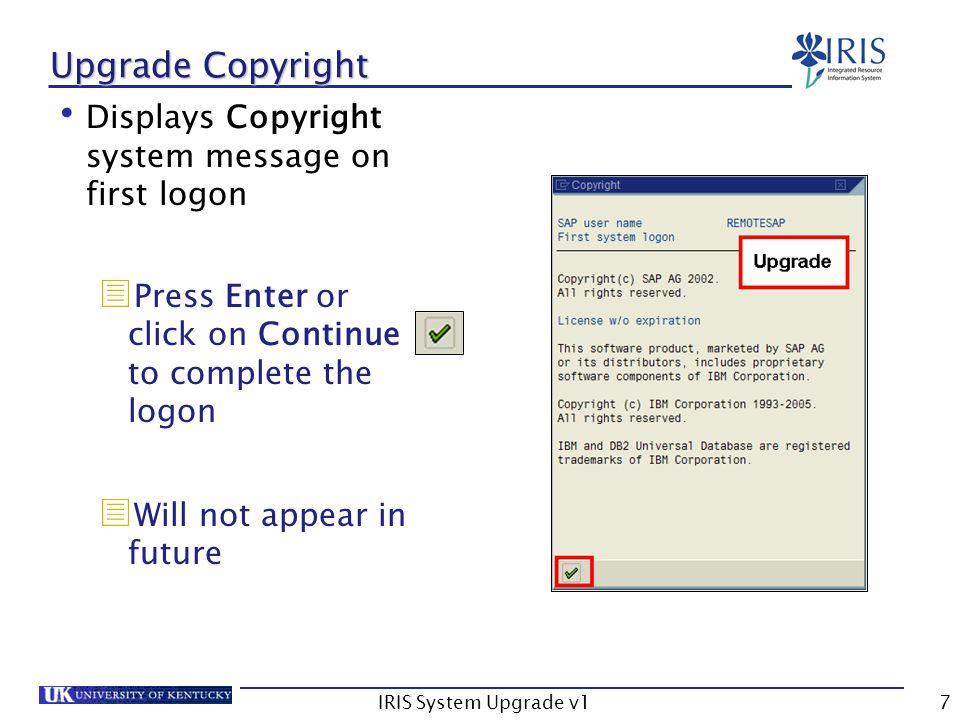 IRIS System Upgrade v118 CM/SLCM Changes – Student Master Data More logical tab order groupings