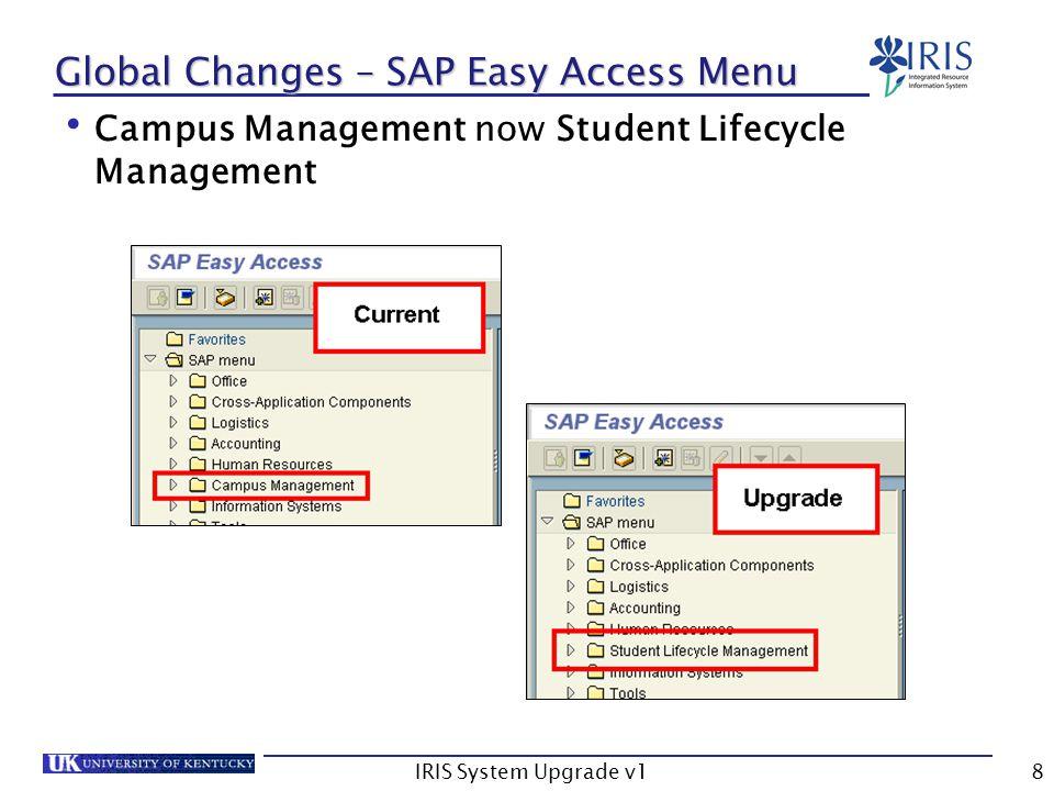 IRIS System Upgrade v159 PM Changes – IR02 Work Center HR Assignment button now HRMS