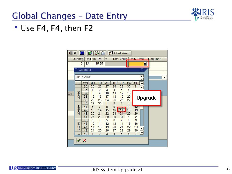 IRIS System Upgrade v130 FI Changes – S_ALR_87012328/S_ALR_87012284 Fin.