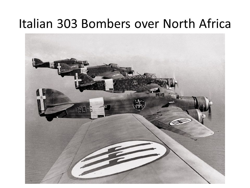 Italian 303 Bombers over North Africa