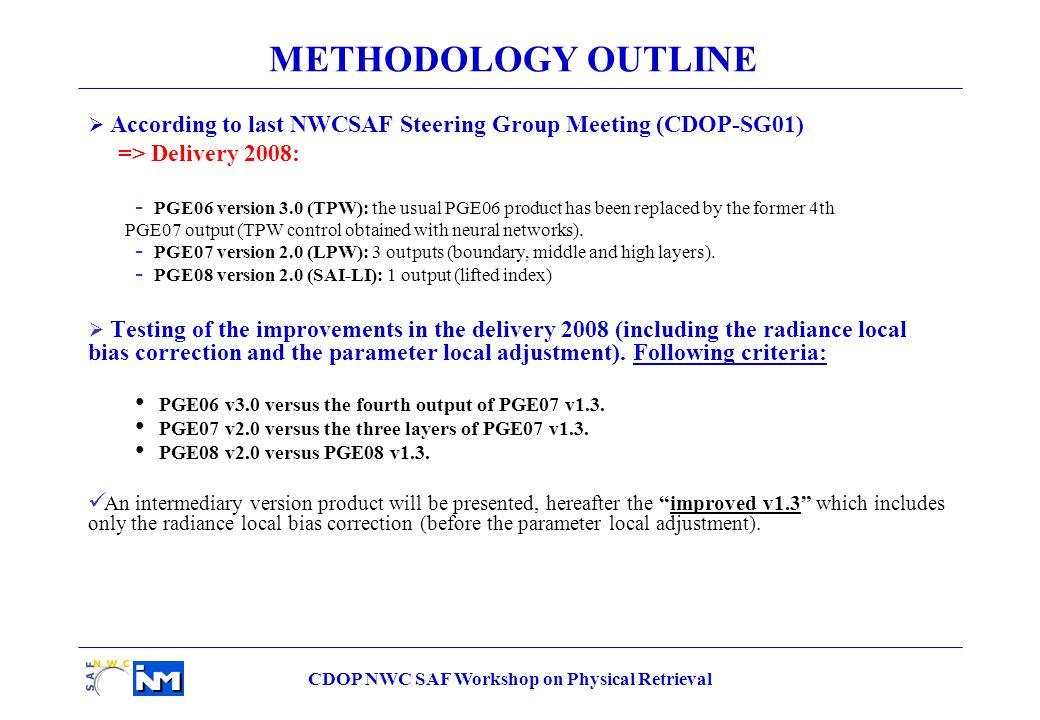CDOP NWC SAF Workshop on Physical Retrieval SAI_LI Statistical parameters Current (v1.3) Current + radiance local bias (Improved v1.3) Delivery 2008 v2.0 Correlation 0.46480.53370.6118 bias (mm) -0.3772-0.1872-0.2420 rms (mm) 4.66834.32534.0590 SAI_LI over non-desert land pixels Decreasing 0.63º Increasing 0.15º