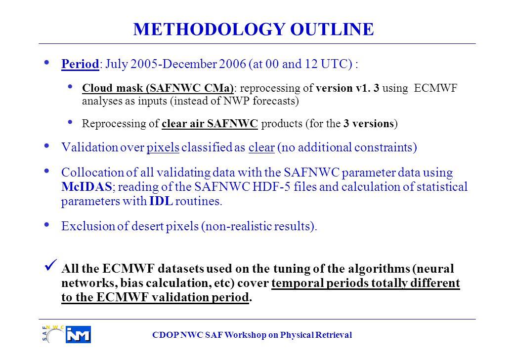 CDOP NWC SAF Workshop on Physical Retrieval LPW_HL Statistical parameters Current (v1.3) Delivery 2008 v2.0 Correlation 0.58960.5482 rms (mm) 0.46540.2146 VALIDATION with RADIOSONDES : LPW_HL Decreasing 0.25 V1.3V2.0