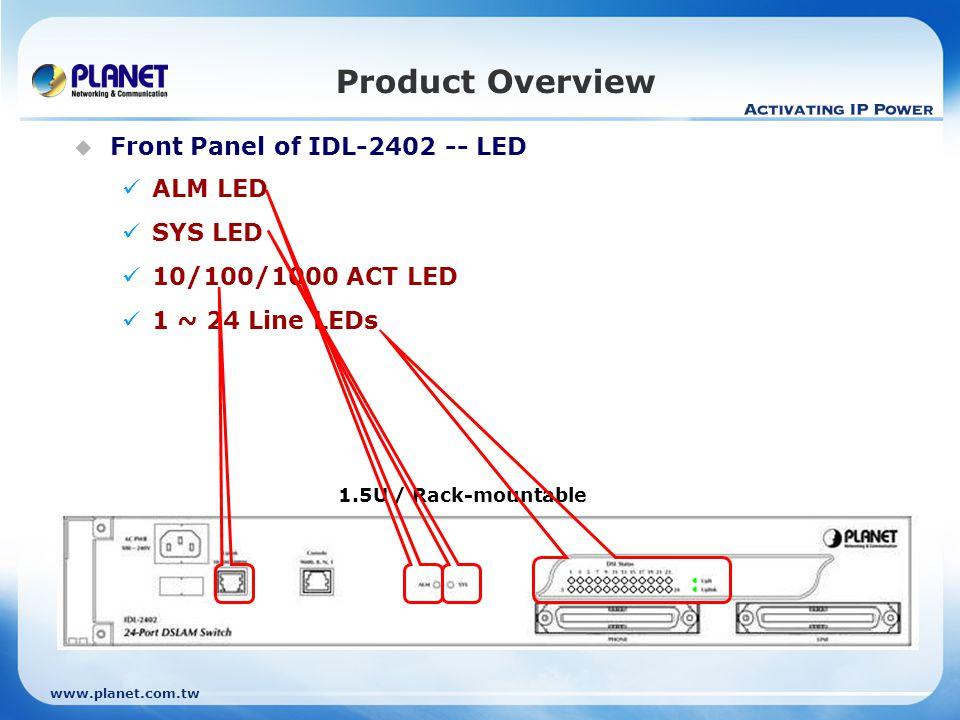 www.planet.com.tw Product Comparison Software ADSL2+ Standard - ANSI T1.413 issue 2 - ITU G.992.1 - ITU G.992.2 - ITU G.994.1 - ITU G.992.3 - ITU G.992.5 - ANSI T1.413 issue 2 - ITU G.992.1 - ITU G.992.2 - ITU G.994.1 - ITU G.992.3 - ITU G.992.5 Annex Type Annex A, L, M CLI Management Console, Telnet, SSH Console, Telnet WEB Management Yes No EMS Management No Yes SNMP v1, v2c v1, V2c Stackable No Yes MAC Address 4K 6K Multicast Groups 256 IGMP V1, V2, V3 ATM PVCs per Port 8 8 VLAN ID 512 VLAN Bridge Static / Port-based / Protocol-based / Tag- based VLAN Static / Port-based VLAN QoS Traffic priority (802.1p) Security VLAN/MAC/IP filtering Access Control List (MAC / IP / Protocol) Port Isolation VLAN/MAC/IP filtering Access Control List (MAC / IP) 802.1x Authentication Yes