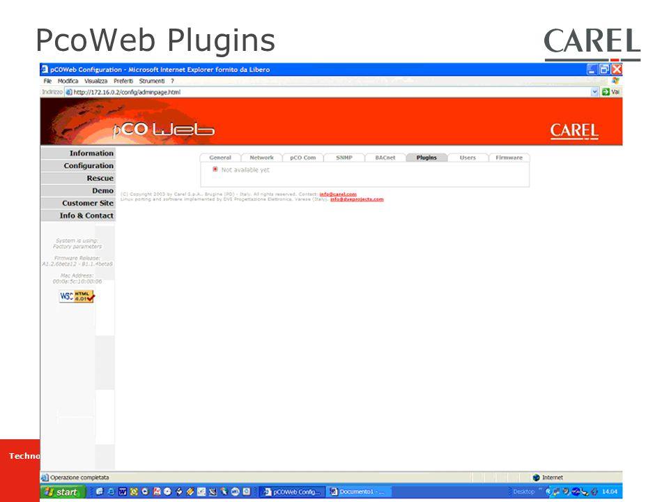 Technology & Evolution PcoWeb Plugins