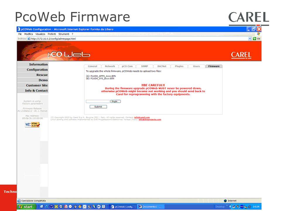 Technology & Evolution PcoWeb Firmware