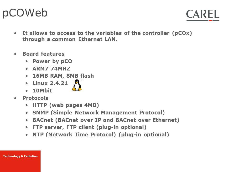 Technology & Evolution PcoWeb SNMP