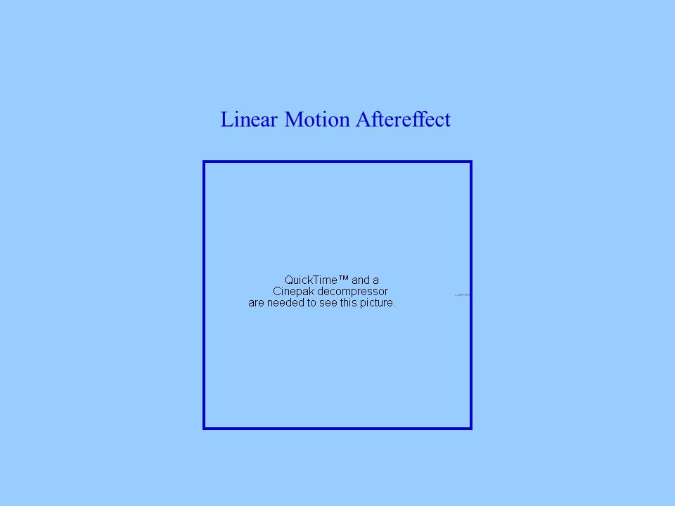 Linear Motion Aftereffect