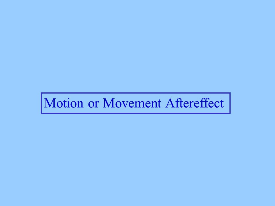 Motion or Movement Aftereffect