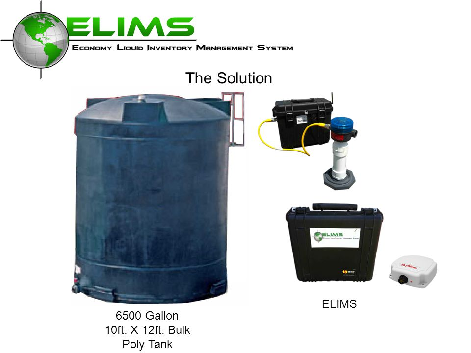 6500 Gallon 10ft. X 12ft. Bulk Poly Tank The Solution ELIMS