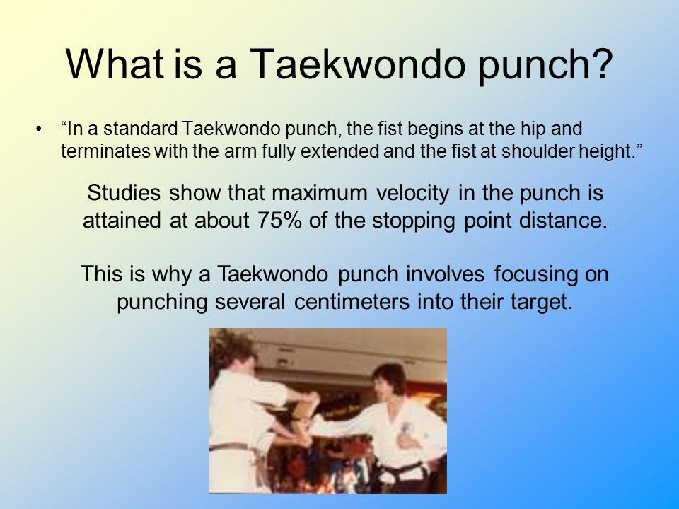 How do you calculate how hard a punch is.