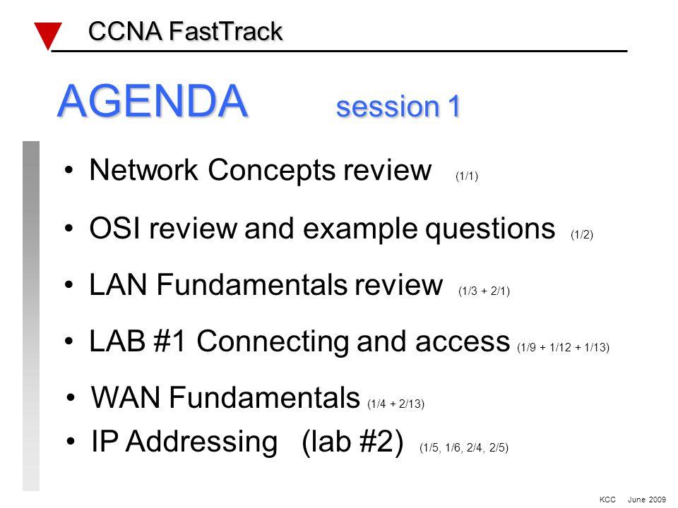 STP & Switching lab #4 CCNA FastTrack CCNA FastTrack KCC June 2009