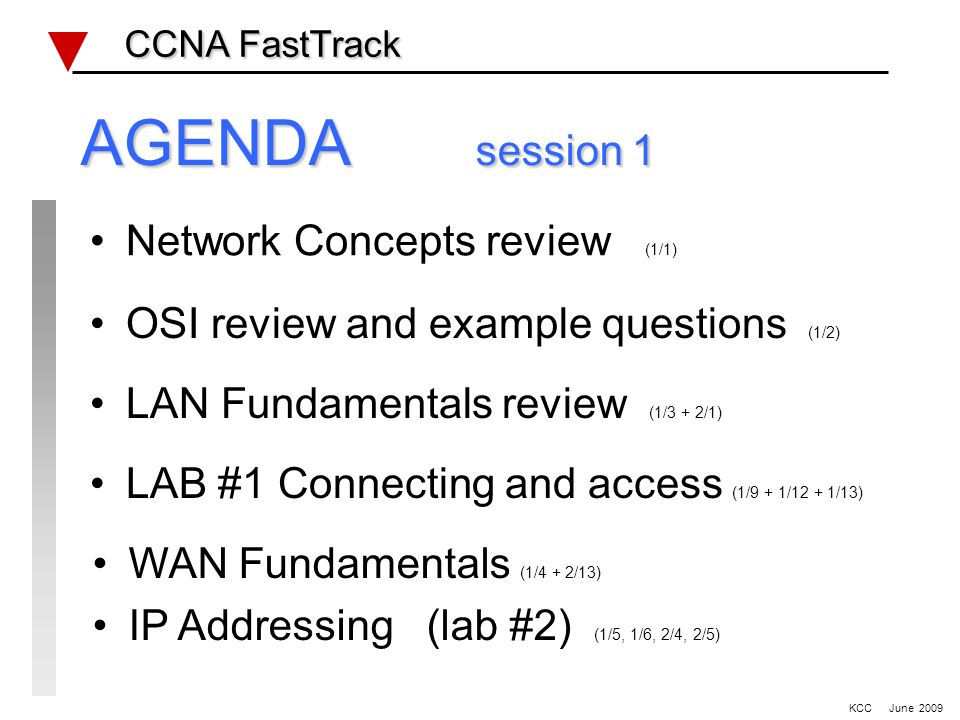 Wan Review CCNA FastTrack CCNA FastTrack Serial defaults Bandwidth Encapsulation DTE/DCE clocking Frame Relay LMI type/DLCI Encapsulation RFC 1490 HDLC PPP WiFi KCC June 2009
