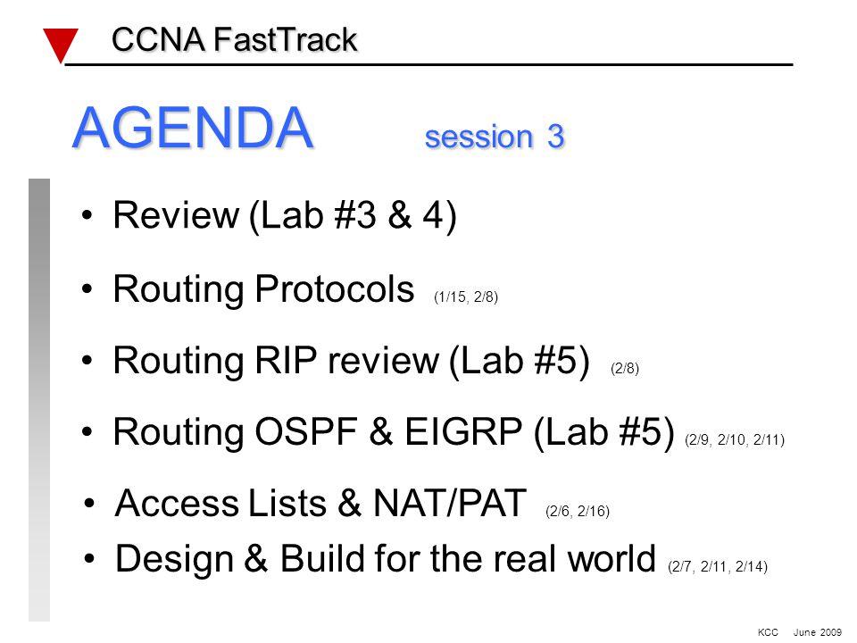 WAN – HDLC, PPP & Static Routing lab #2 CCNA FastTrack CCNA FastTrack KCC June 2009