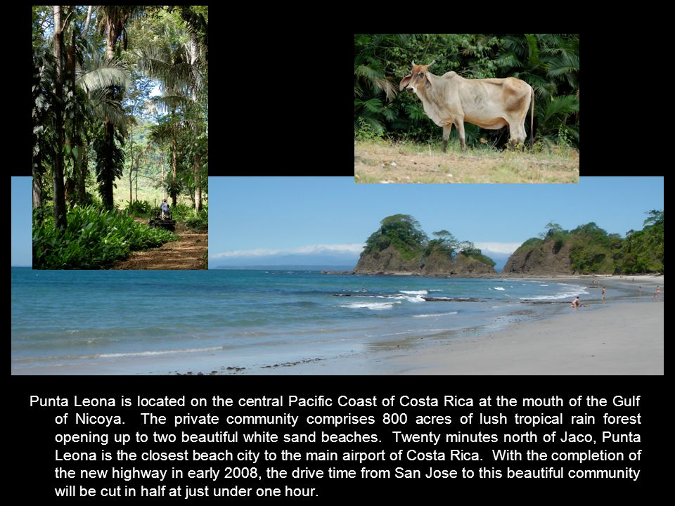 Punta Leona is located on the central Pacific Coast of Costa Rica at the mouth of the Gulf of Nicoya.