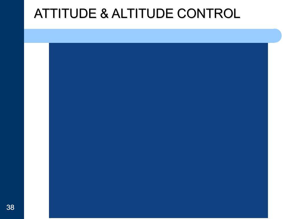 ATTITUDE & ALTITUDE CONTROL 38
