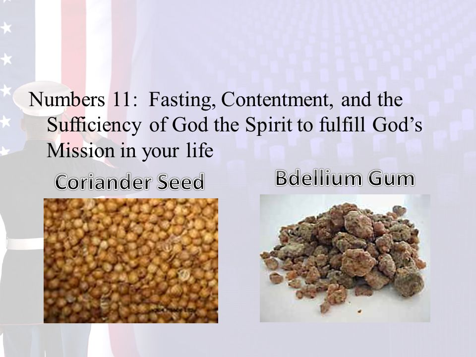 Numbers 11: Fasting, Contentment, and the Sufficiency of God the Spirit to fulfill God's Mission in your life