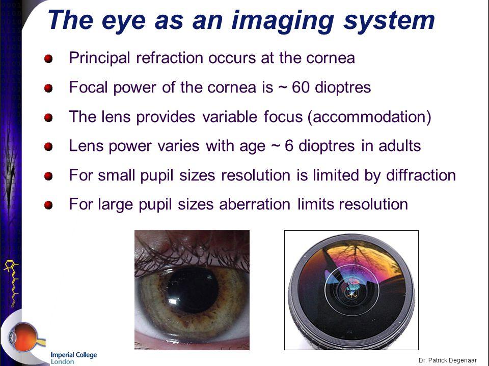 Dr. Patrick Degenaar The eye: Physiological Optics