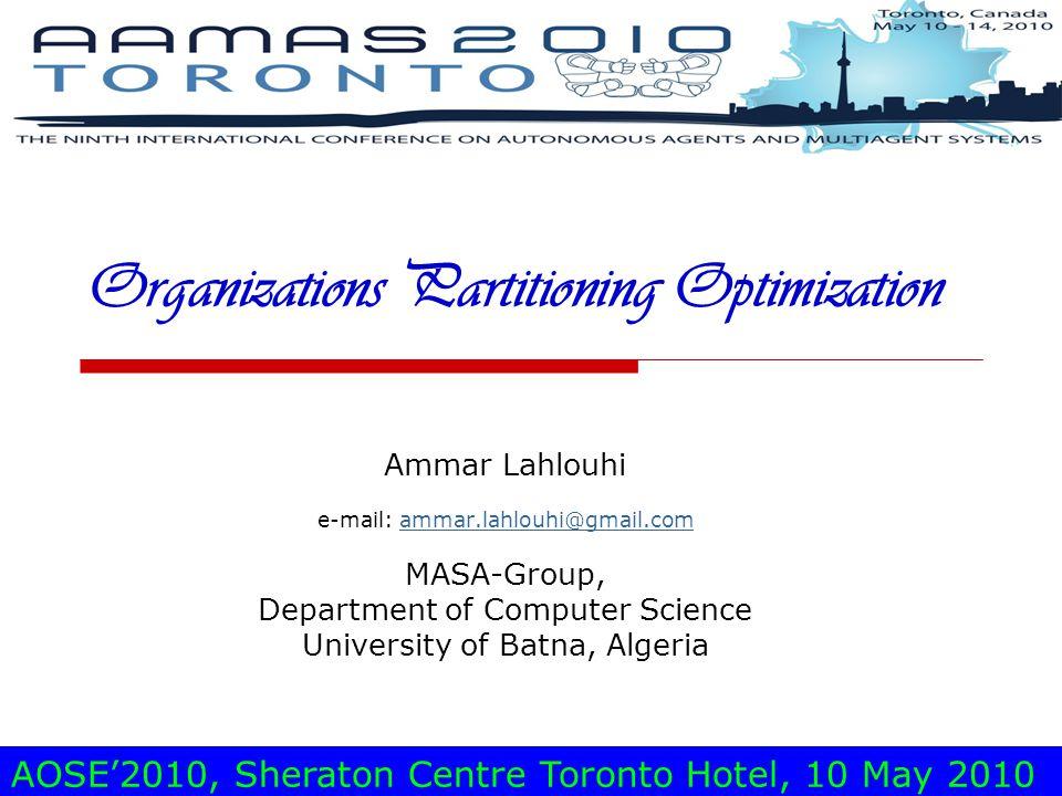 Ammar LAHLOUHISheraton Centre Toronto Hotel, may 10, 201012 PA Adaptation to OP (3)