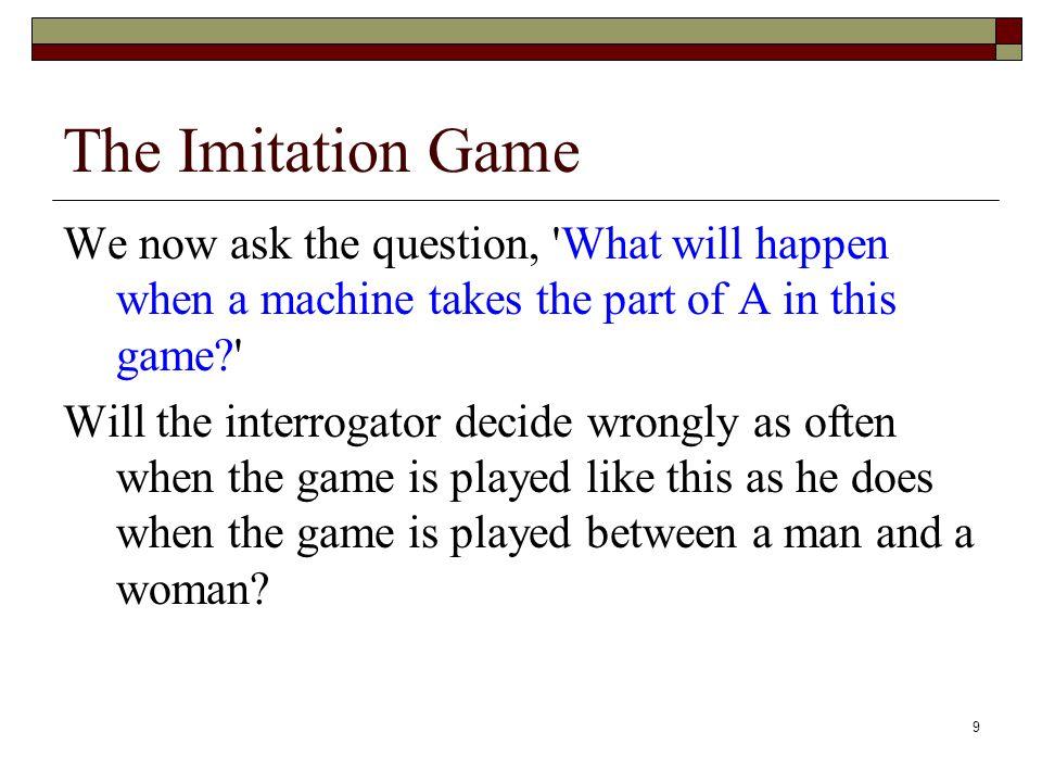 10 The Imitation Game