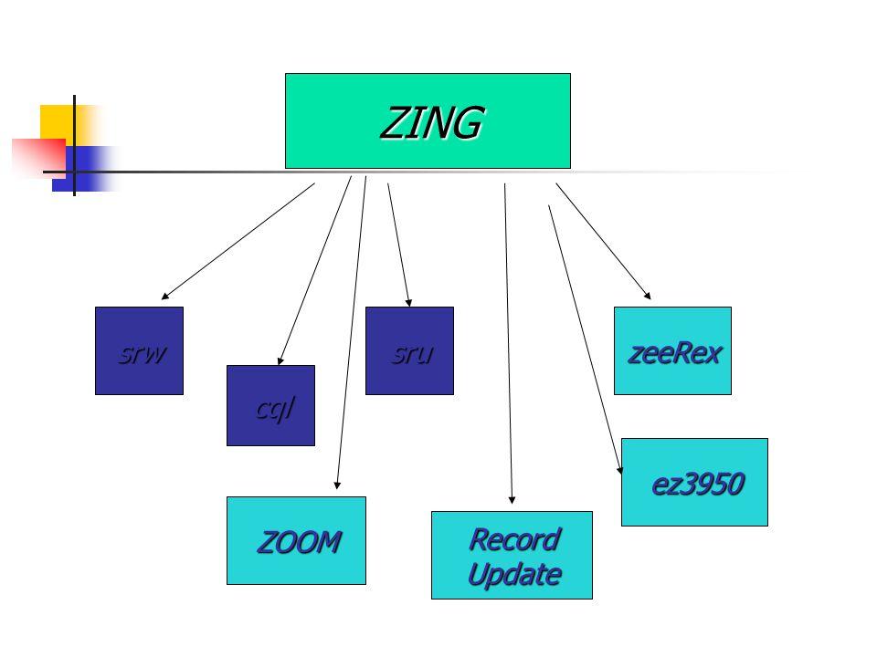 ZING srwsru cql ZOOM ez3950 zeeRex Record Update
