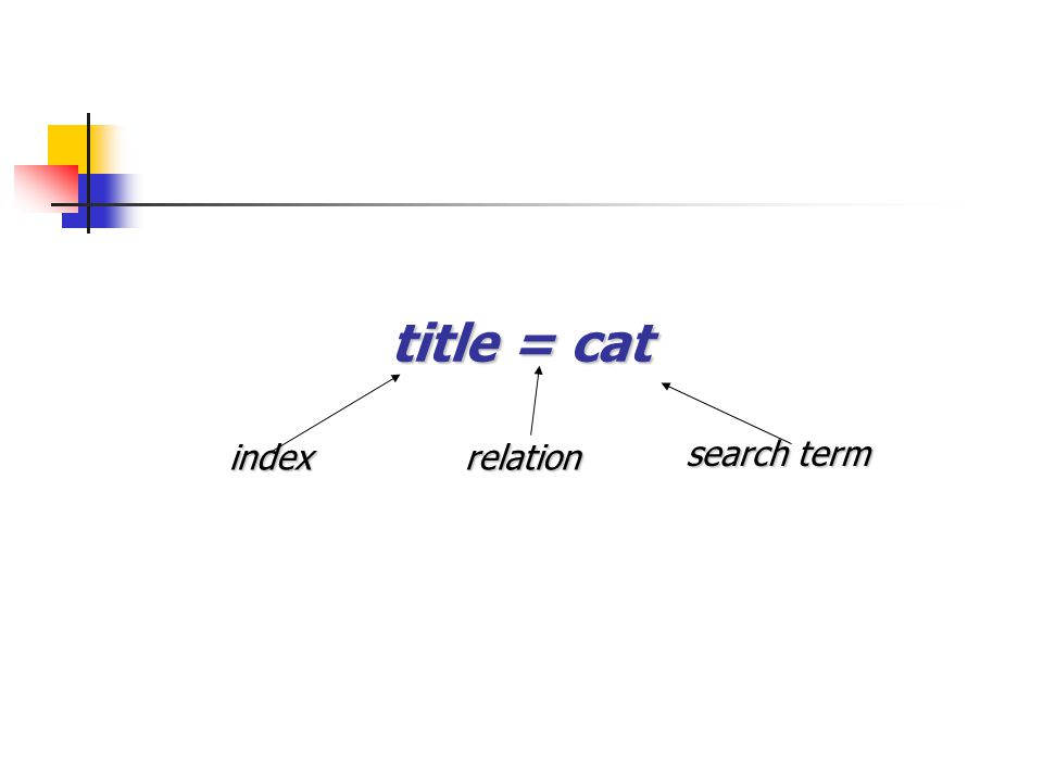title = cat indexrelation search term