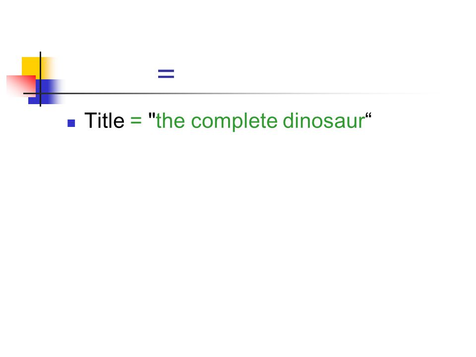 = Title = the complete dinosaur