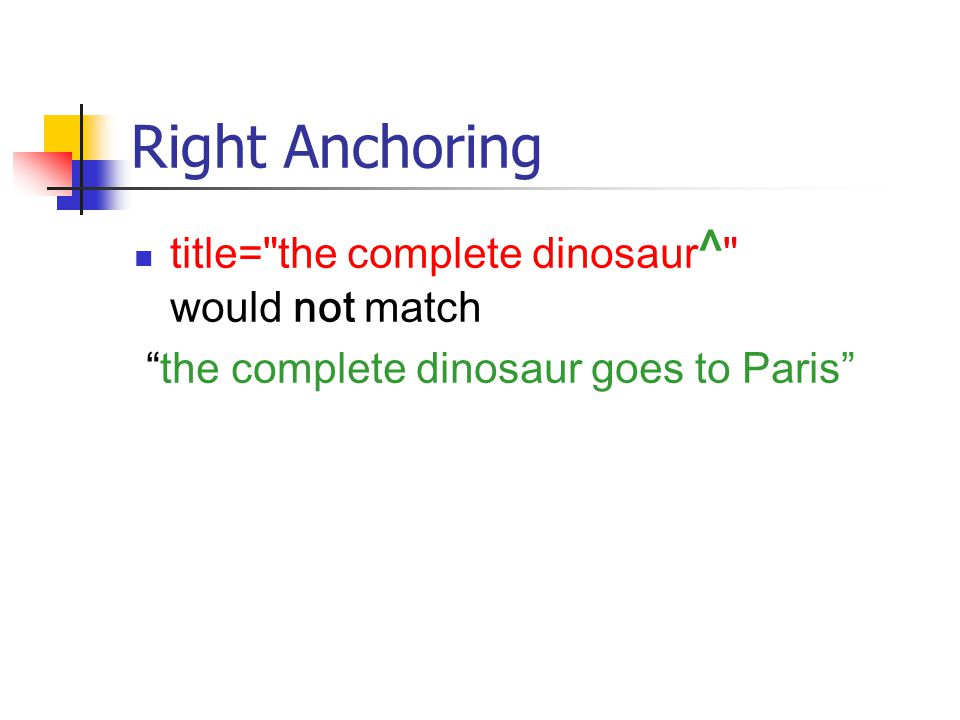 Right Anchoring title= the complete dinosaur ^ would not match the complete dinosaur goes to Paris
