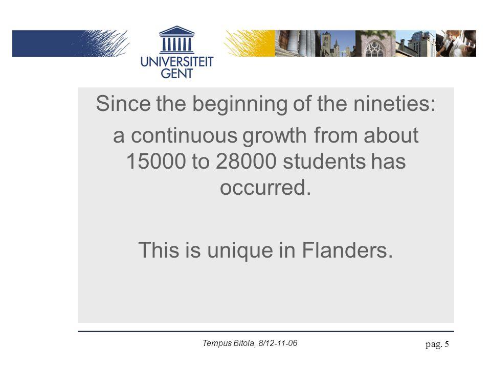 Tempus Bitola, 8/12-11-06 pag.6 Context in Flanders: 6 000 000 inhab.