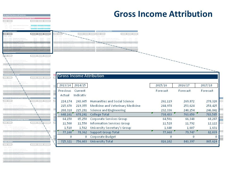 Gross Income Attribution