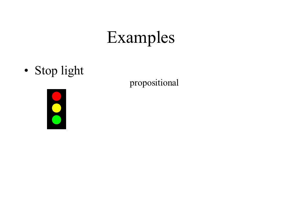 Examples Stop light propositional