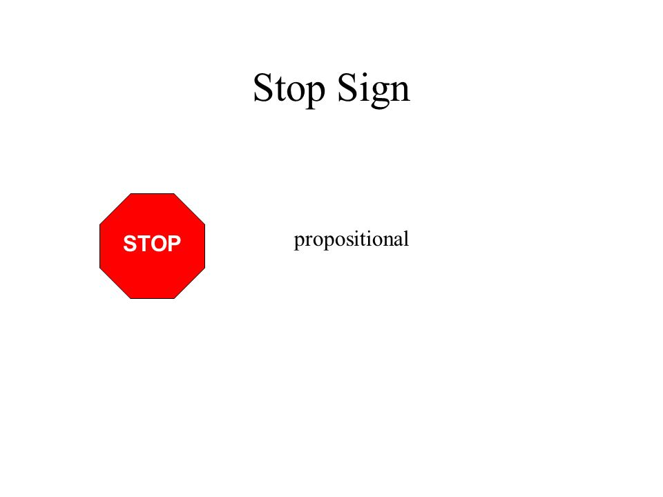Stop Sign STOP propositional