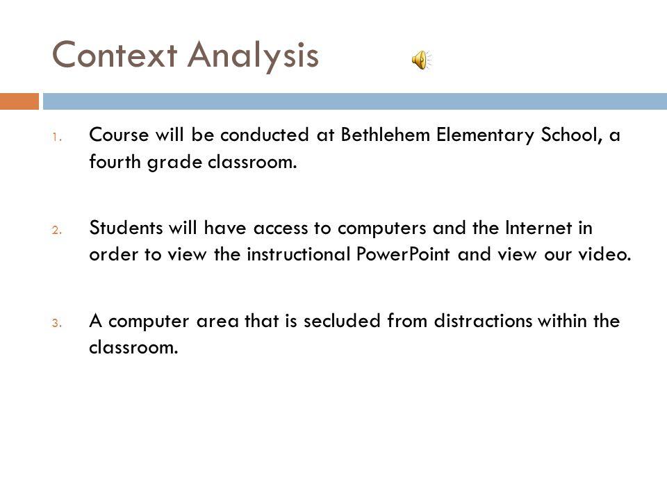 Context Analysis 1.