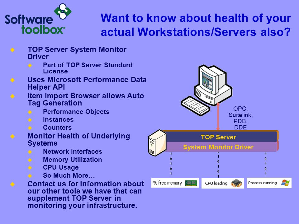 Want to know about health of your actual Workstations/Servers also.