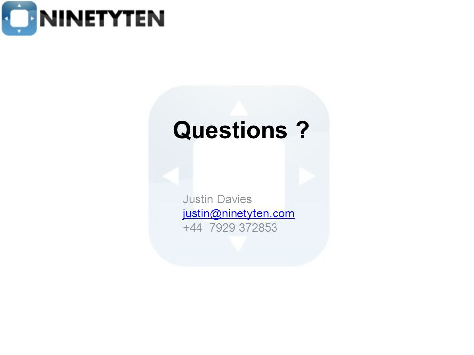 Questions Justin Davies