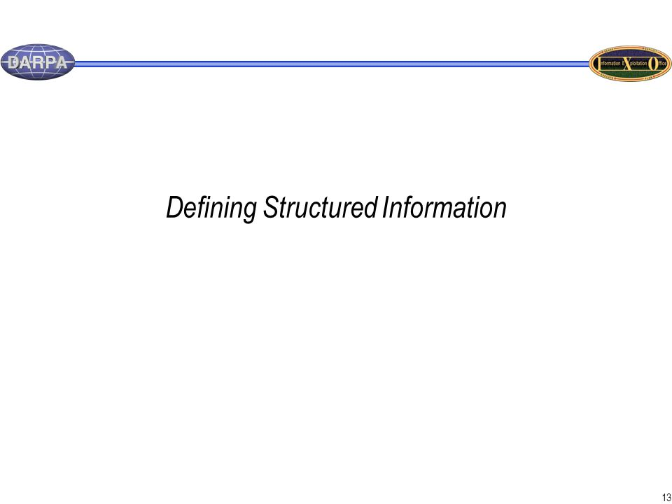 13 Defining Structured Information