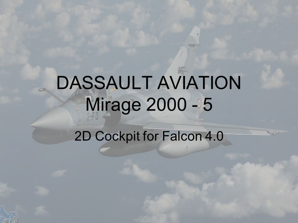 2D Cockpit for Falcon 4.0 DASSAULT AVIATION Mirage