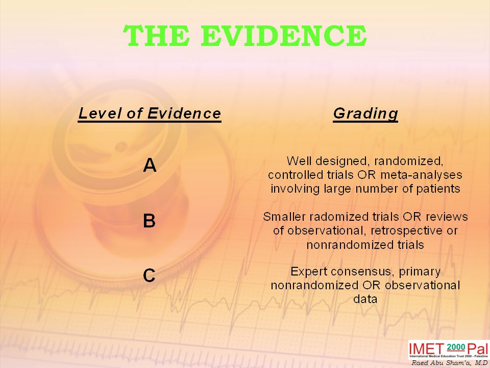 Raed Abu Sham'a, M.D THE EVIDENCE