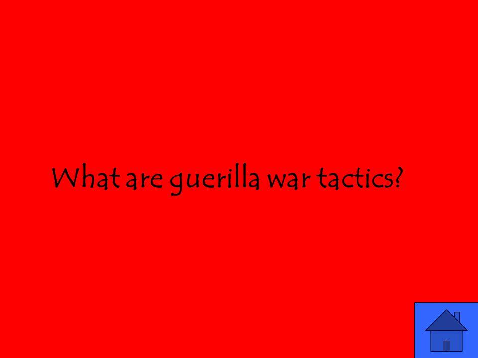 What are guerilla war tactics
